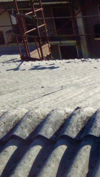 tetto esistente in amianto