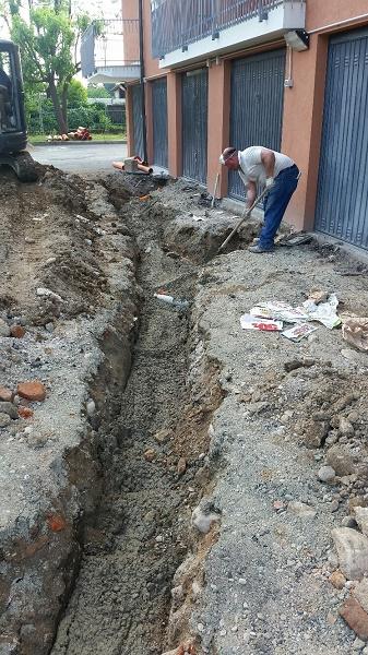 scavo fognatura